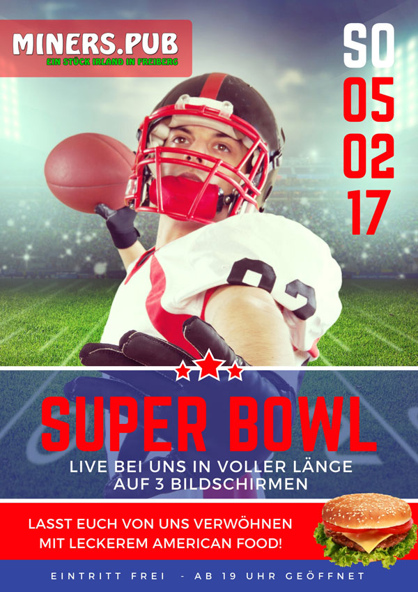Super Bowl 2017 Plakat