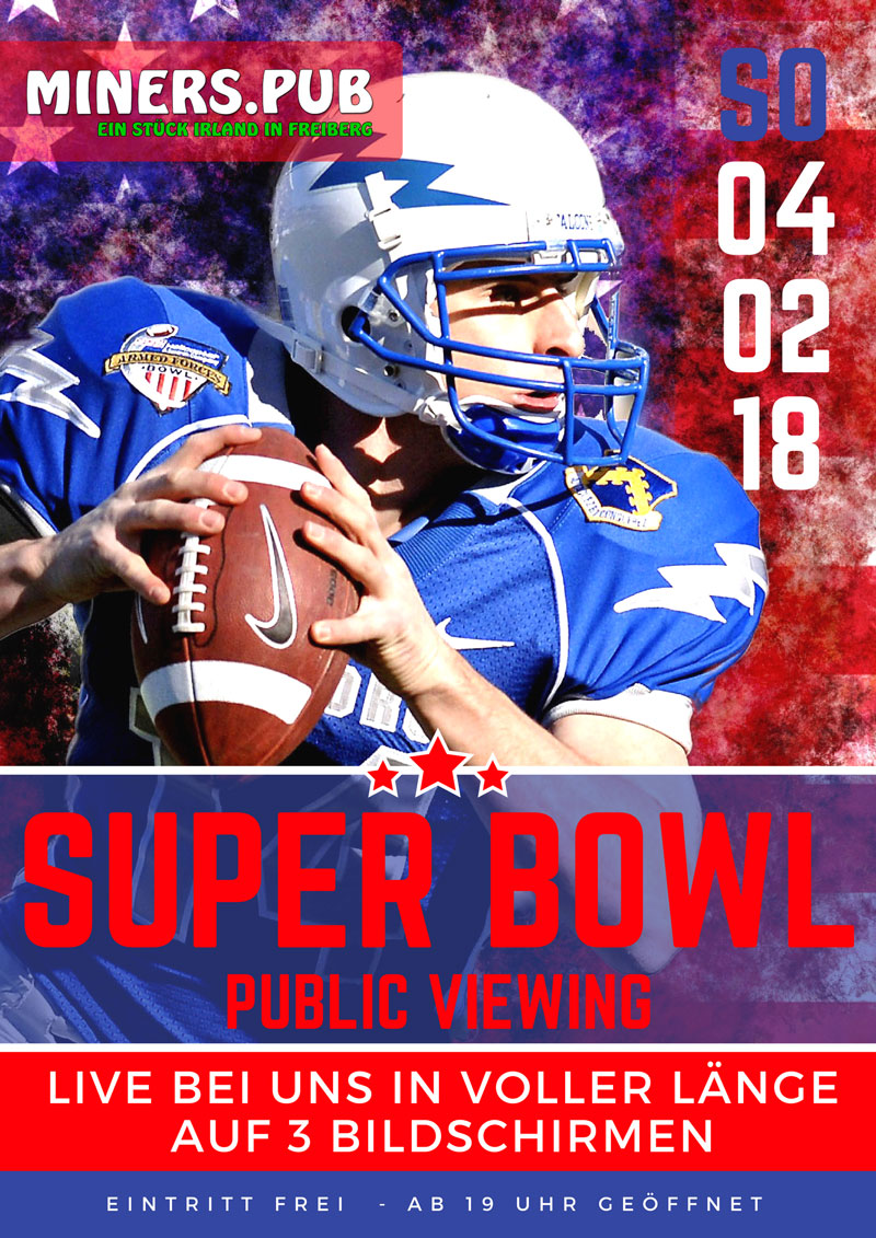 Super Bowl 2018 Plakat